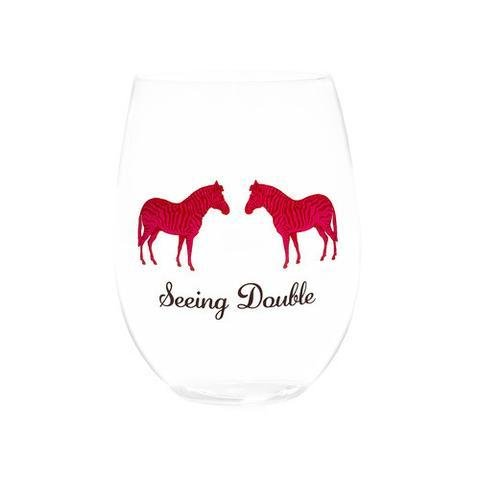 August Morgan Seeing Double Wine Glasses Set of 4