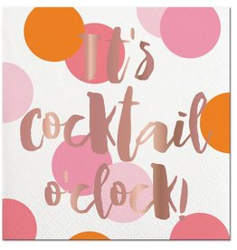 Slant Cocktail O'Clock Napkins 20CT