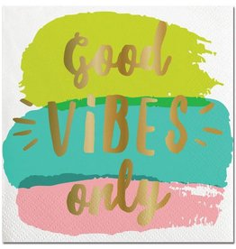 Slant Good Vibes Only Napkins 20CT