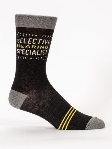 Blue Q Mens Sock Selective Hearing