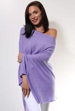 Claudia Nichole Cashmere Topper Lilac