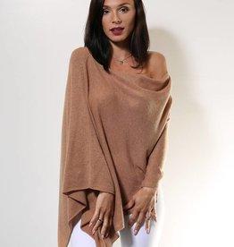 Claudia Nichole Cashmere Topper Camel