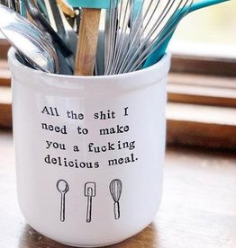 Buffalovely All the Sh!t I Need to Make You A Delicious Meal Ceramic Utensil Holder