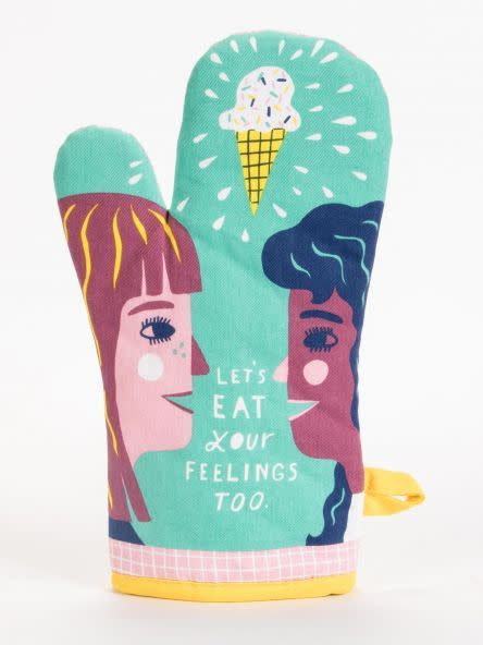 Blue Q Lets Eat Your Feelings Too Oven Mitt