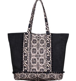 America & Beyond Embellished Oversized Tote