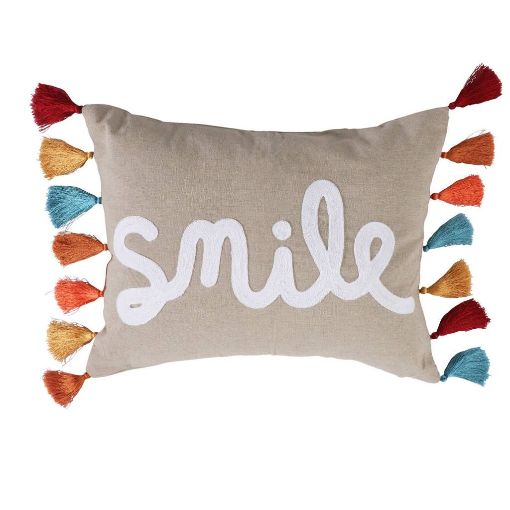 Levtex Smile PIllow with Tassels
