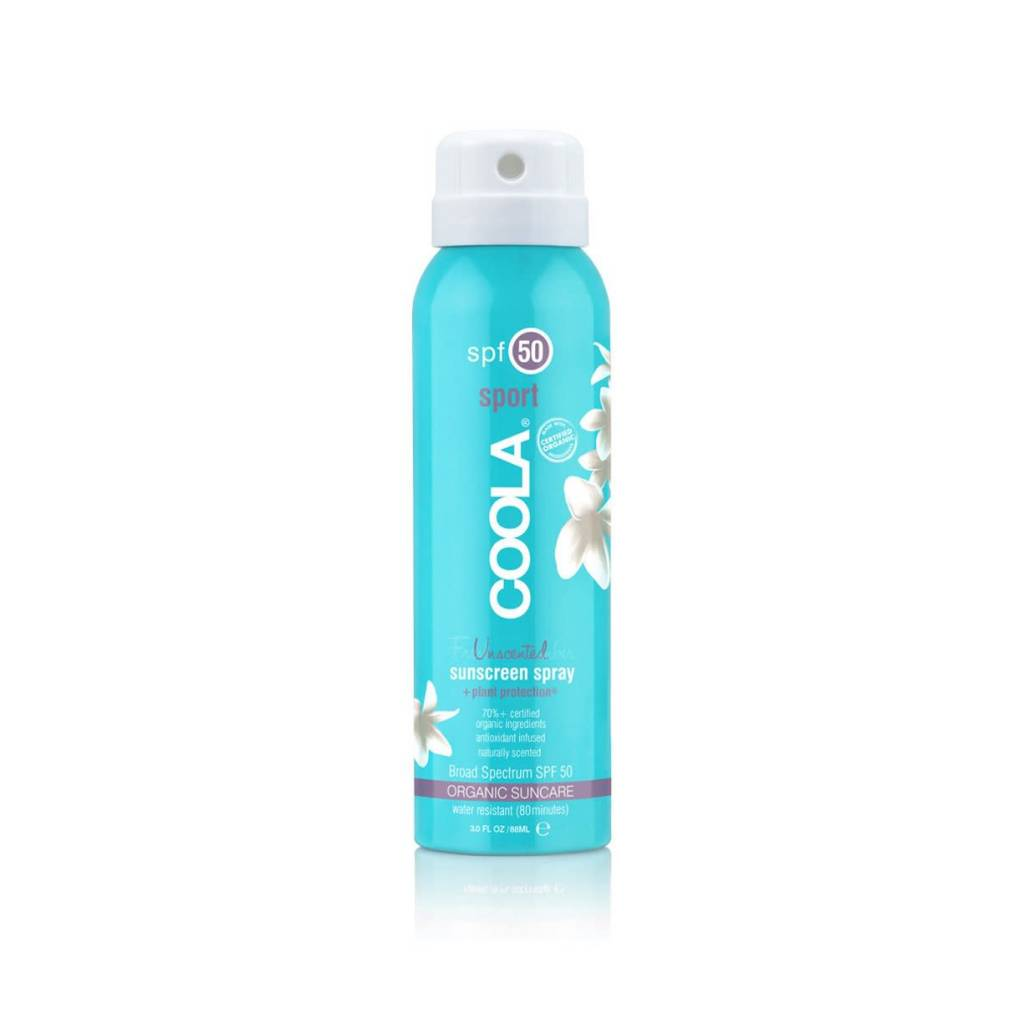 Coola Travel Size Sport SPF 50 Organic Sunscreen Spray
