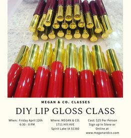 DIY Lip Gloss, 4/12/19, Class