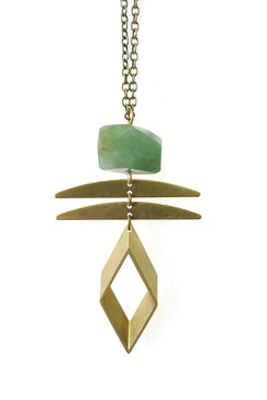 Aventurine Rhombus Necklace