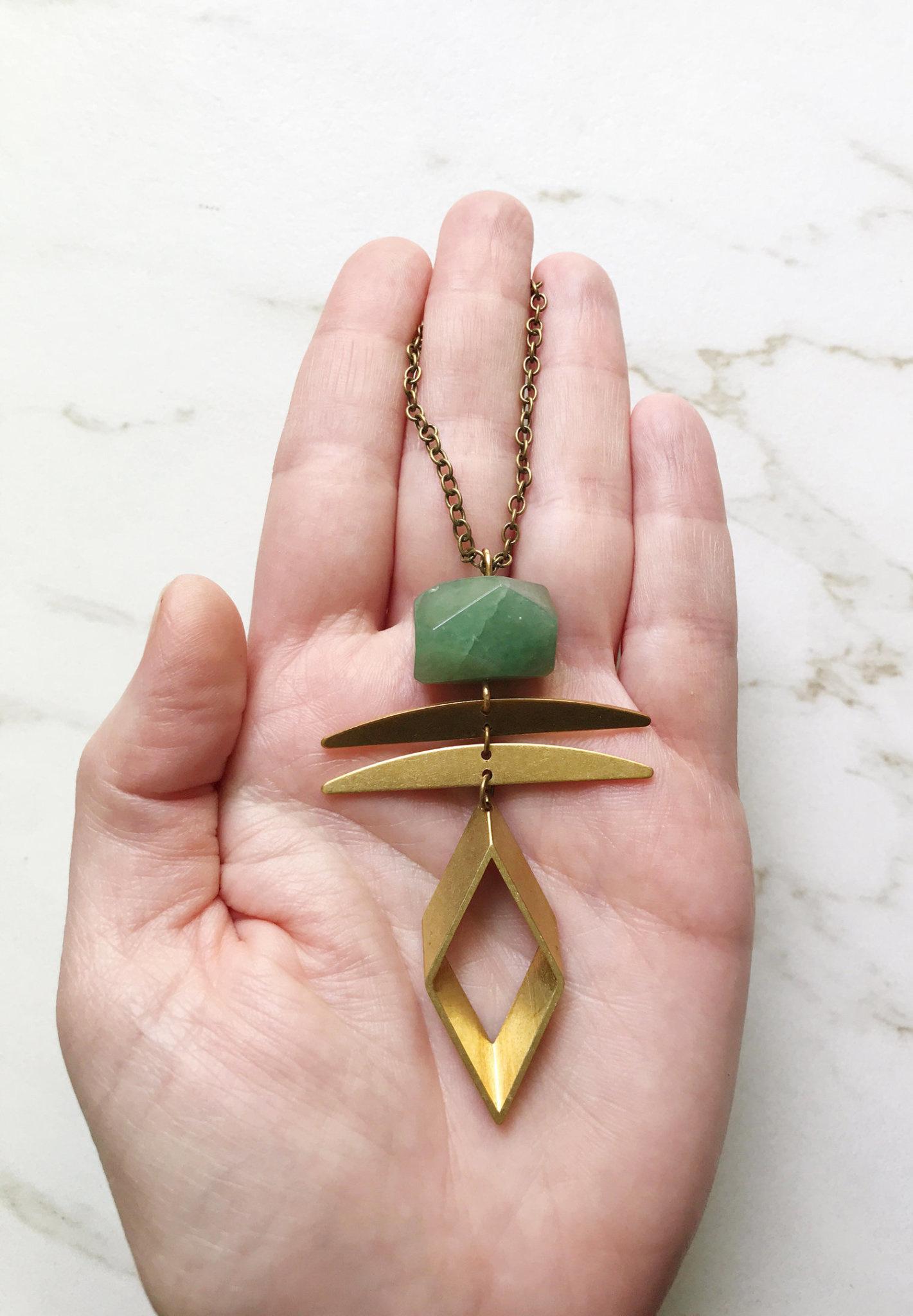 Aventurine Rhombus Necklace