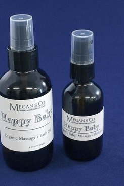 Happy Baby Massage + Bath Oil, 4 oz