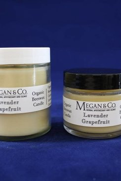 Lavender Grapefruit Beeswax Candle