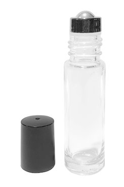 Perfume Bottle with Lid + Steel Ball