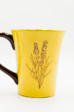 MEGAN & CO. Lavender Yellow MUG