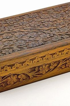 Wooden Floral Carved Box