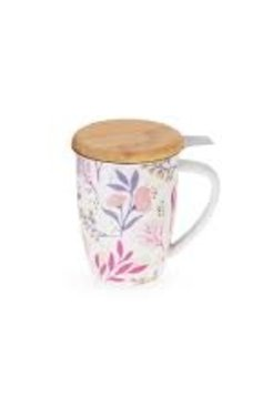 Botanical Ceramic Infuser Mug