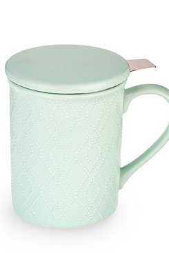 Mint Ceramic Infuser Mug