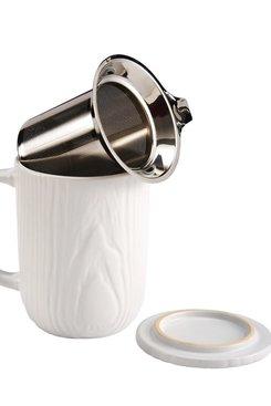 Woodgrain, Tea Infuser Mug 18 oz