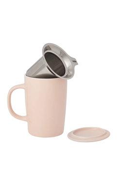 Pink, Tea Infuser Mug 16 oz