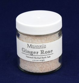 Ginger Rose Bath Salt, 4 oz