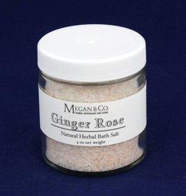 Ginger Rose Bath Salt, 4 oz