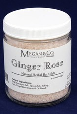 Ginger Rose Bath Salt, 9oz