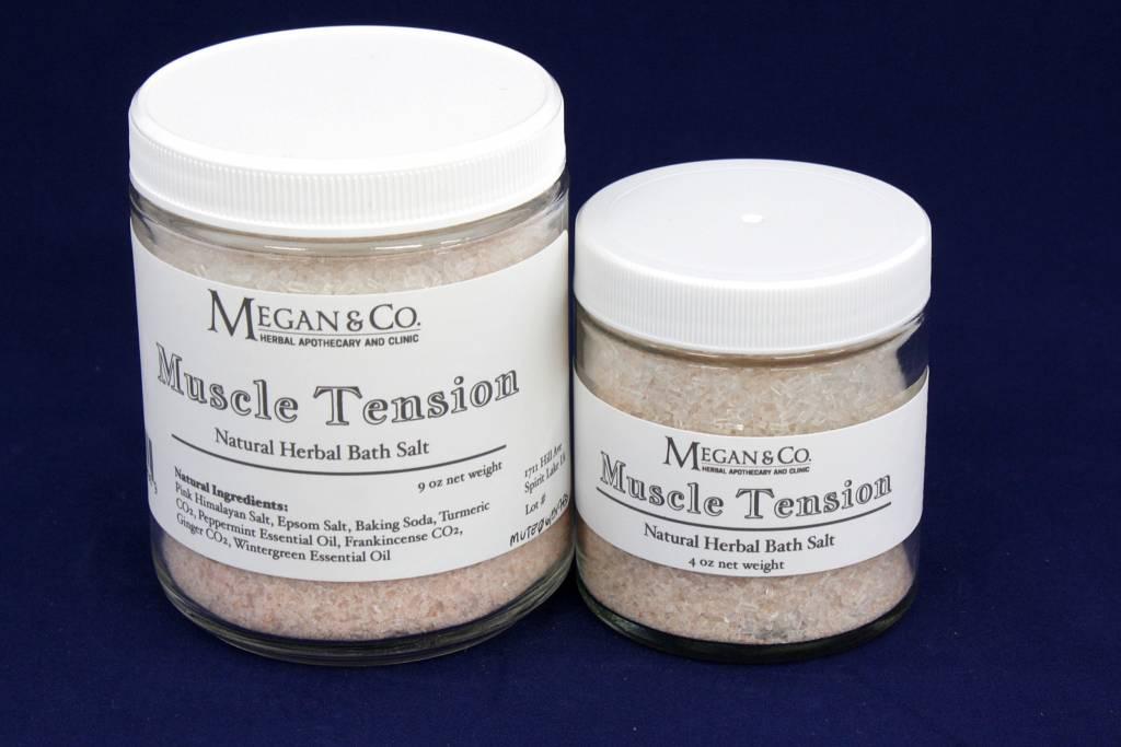 muscle tension bath salt 9 oz megan co herbal. Black Bedroom Furniture Sets. Home Design Ideas