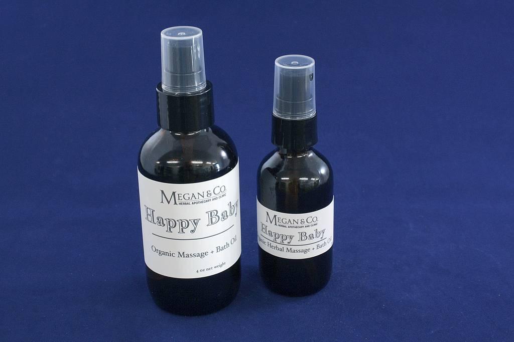 Happy Baby Massage + Bath Oil, 2 oz