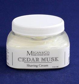Cedar Musk Shaving Cream, 8oz