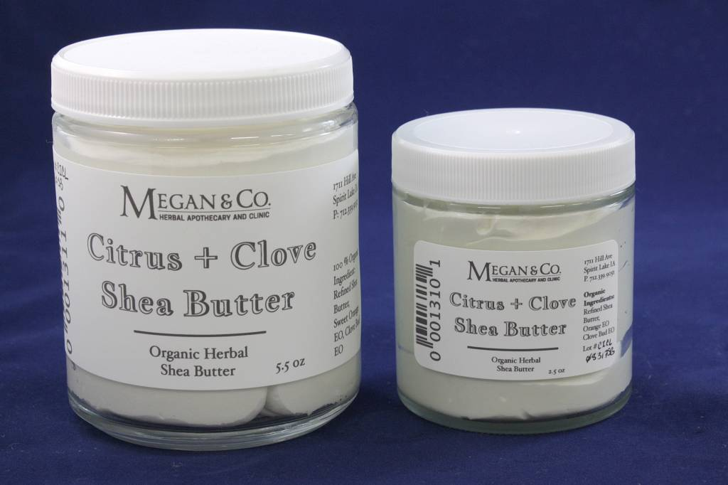 Citrus Clove Shea Butter. 9 oz