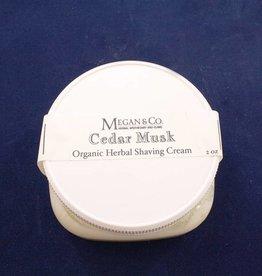 Cedar Musk Shaving Cream, 4 oz