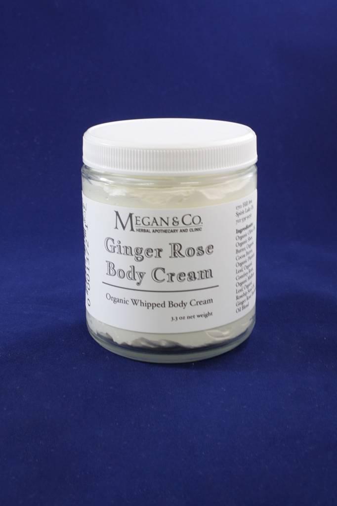 Ginger Rose Whipped Body Cream, 8 oz