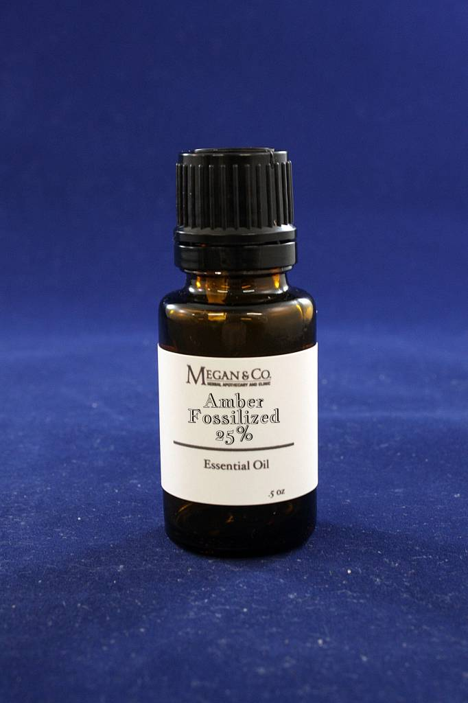 Amber Fossilized Essential Oil 25% Dilution, .5oz
