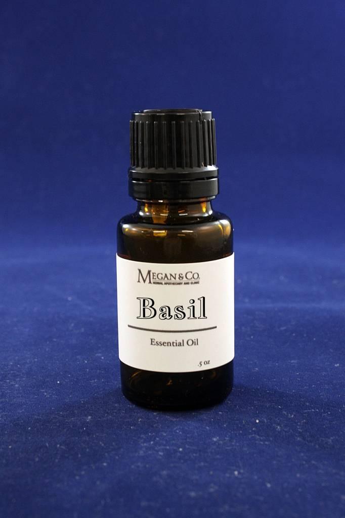 Basil Sweet Essential Oil, .5 oz