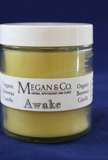 Awake, 4 oz Beeswax Candle