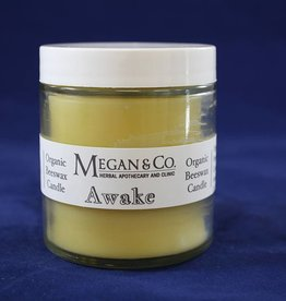 Awake, 4 oz Beeswax Candle