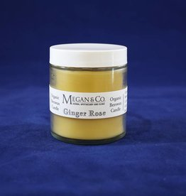 Ginger Rose Beeswax Candle, 4 oz