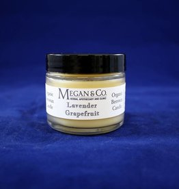 Lavender Grapefruit Beeswax Candle, 2 oz