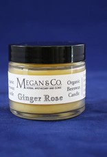 Ginger Rose Beeswax Candle, 2 oz