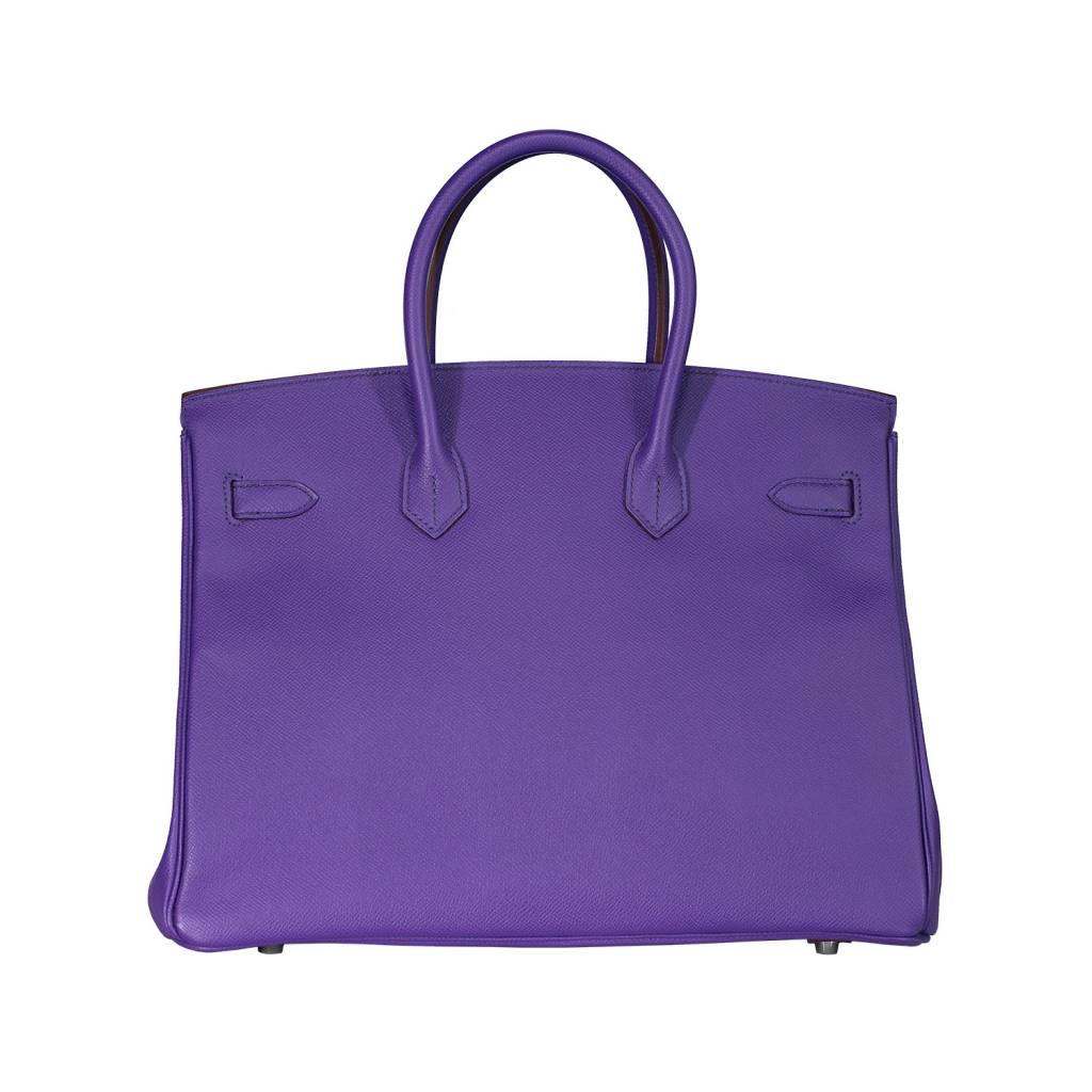 Hermès sac à main mauve Crocus Birkin 35 cm - Boutique LUC.S 953d00348fb