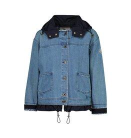 Moncler Moncler manteau coupe-vent Joubarde en denim
