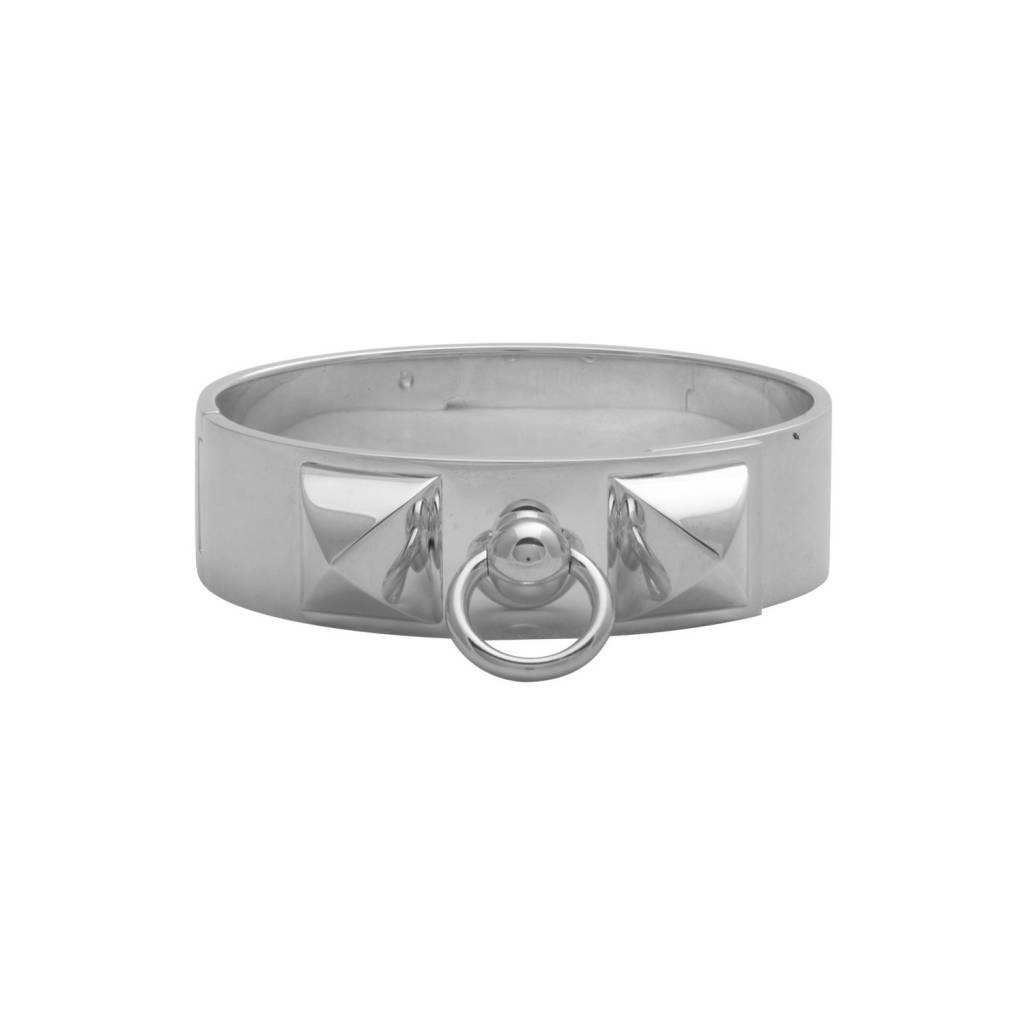 Hermès Silver Metal Collier de Chien Bracelet - Boutique LUC.S 0199fcdaa09