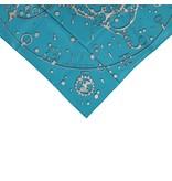 Hermès Hermès Turquoise Cheval Fusion Silk Scarf