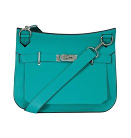 Hermès NON DISPONIBLE - Hermès sac bandoulière bleu Paon Jypsière 30cm