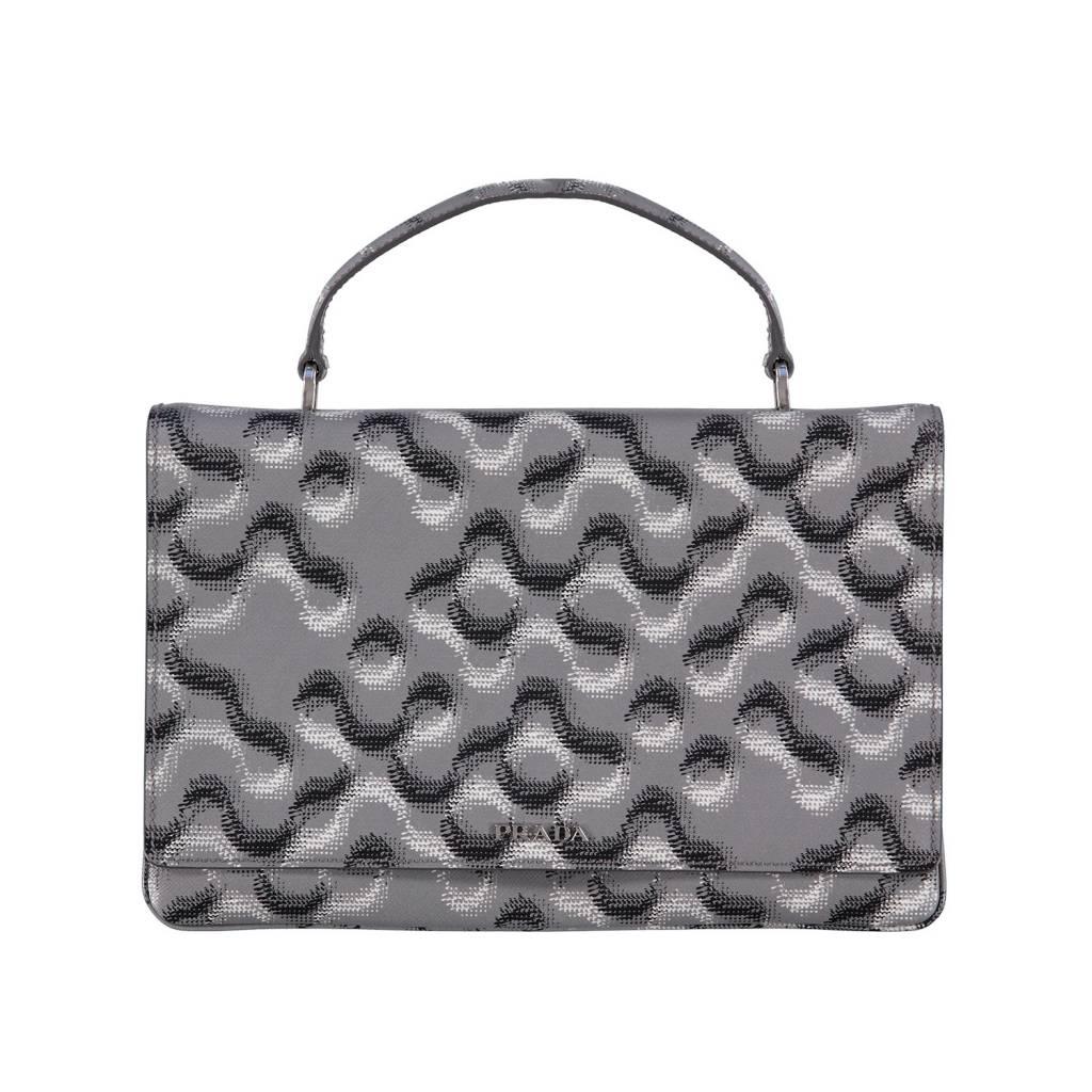 6c4c9a0ae1ca9 Prada Molecule-Print Saffiano Top-Handle Bag - Boutique LUC.S