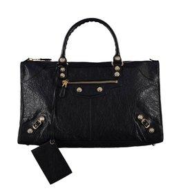 Balenciaga Balenciaga Black Arena Leather Giant Work Bag