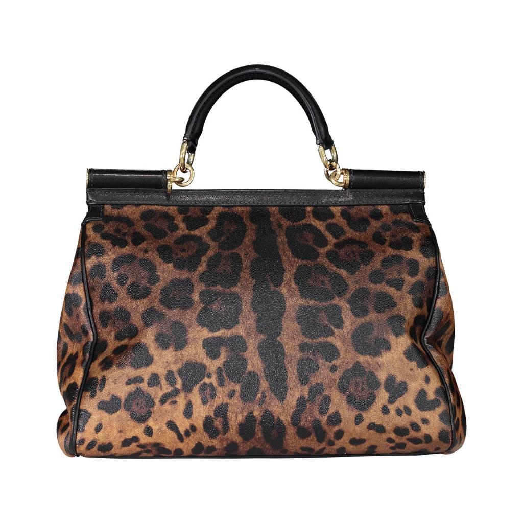322a954935 ... Bag Dolce   Gabbana N A - Dolce   Gabbana Large Miss Sicily Leopard  Print ...
