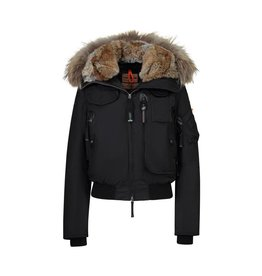 Parajumpers N/A - Parajumpers Black Coat with Hooded Fur
