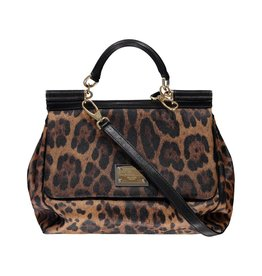Dolce & Gabbana N/A - Dolce & Gabbana Large Miss Sicily Leopard Print Bag