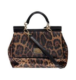 Dolce & Gabbana NON DISPONIBLE - Dolce & Gabbana sac à main large Miss Sicily imprimé léopard
